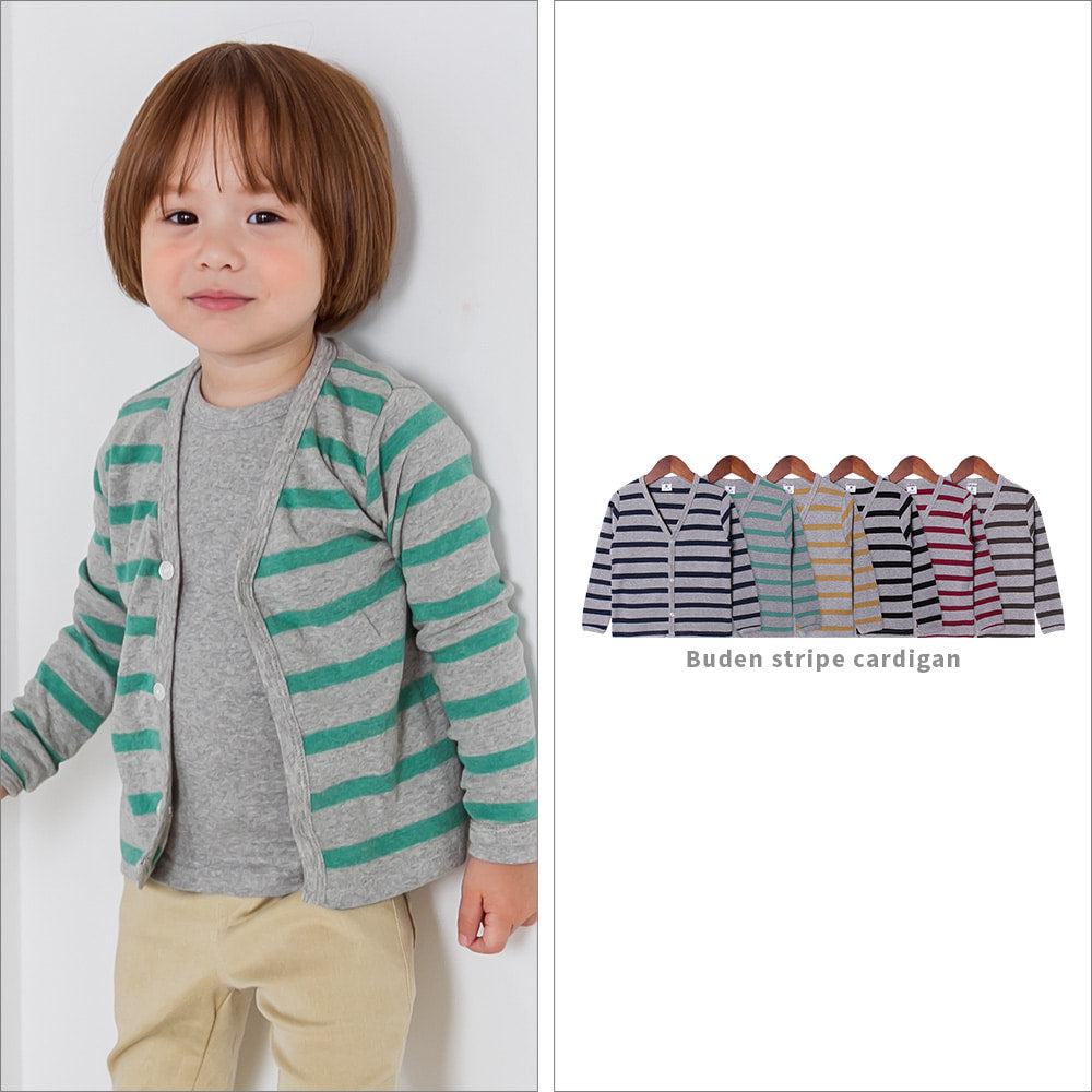 Buden Stripe cardigan - shockingpark