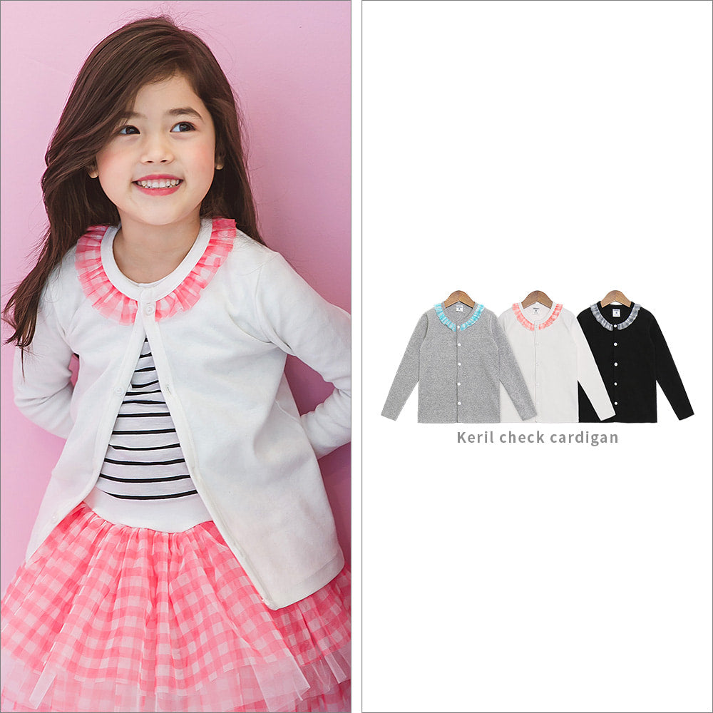 Keril Check Cardigan - shockingpark