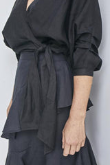 Wrap Top-Black || SOLITO CLOTHING