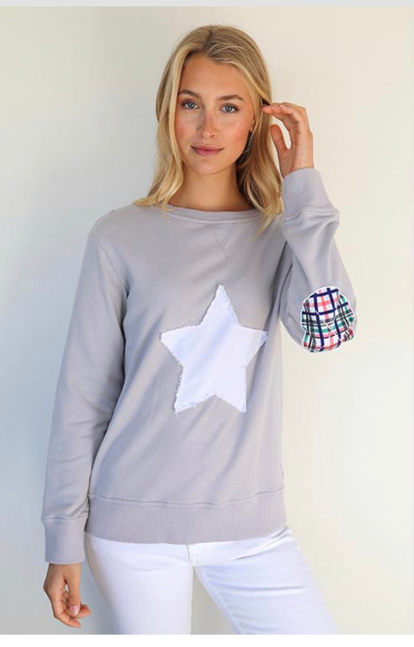 Bright Plaid Star Windy - French Grey