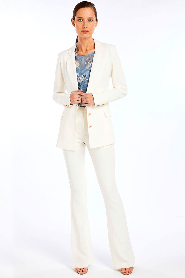 BETSY TAILORED PANT - IVORY
