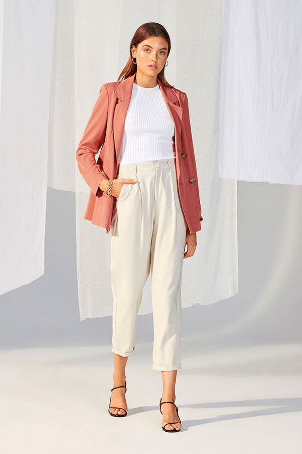 BROOKLYN SOFT BLAZER - SALMON