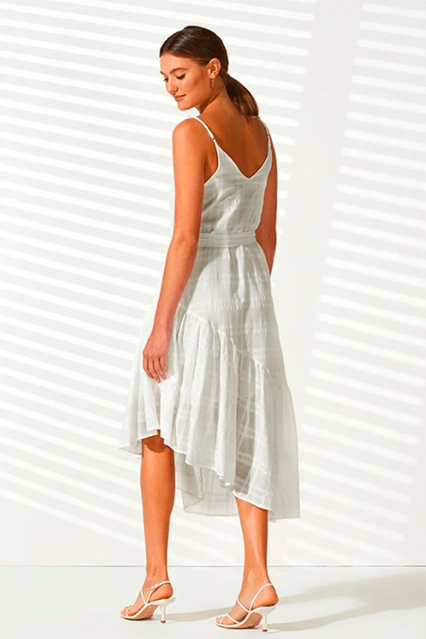 DAYDREAM RUFFLED DRESS - WHITE