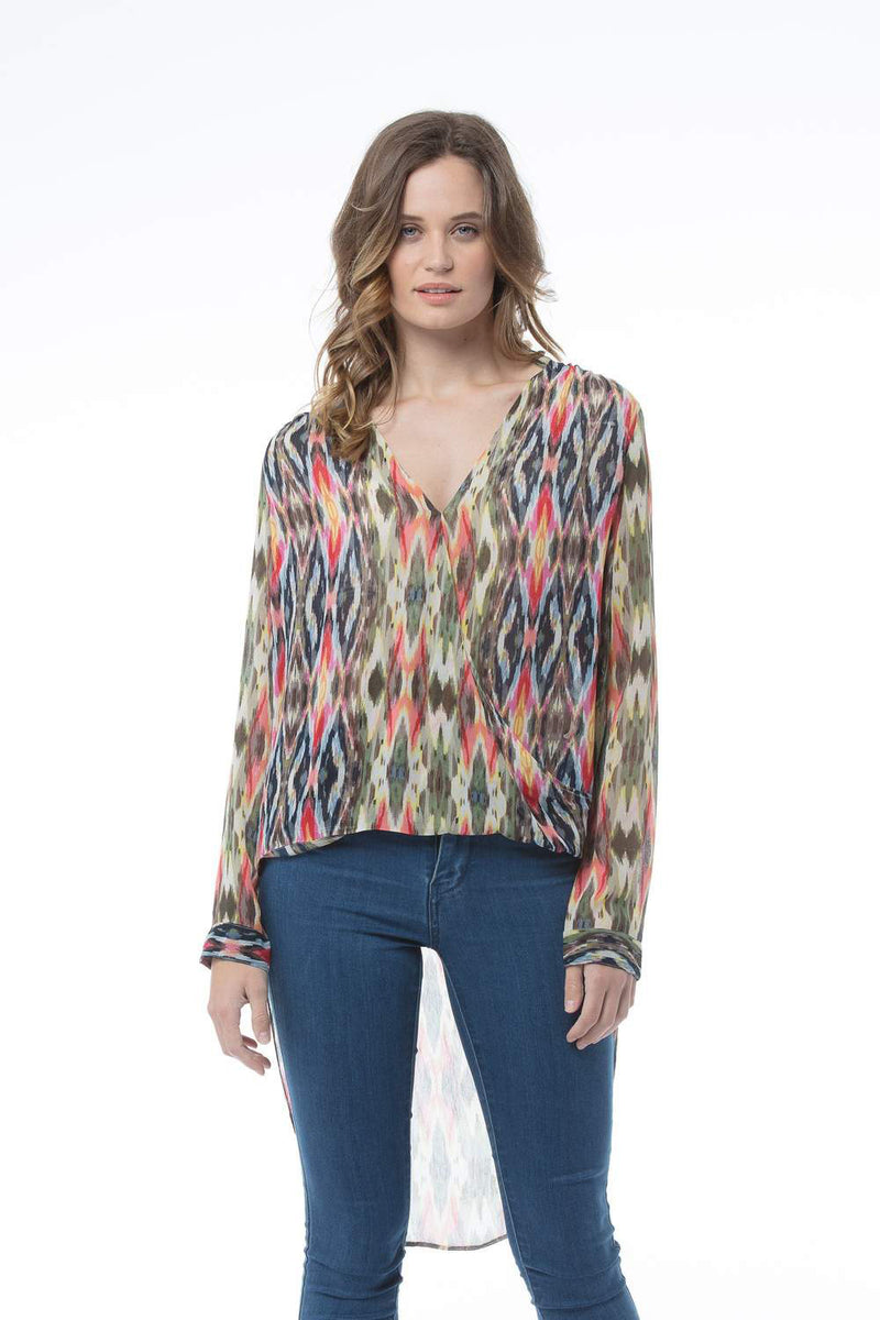 FIONA TOP - SCARF PRINT