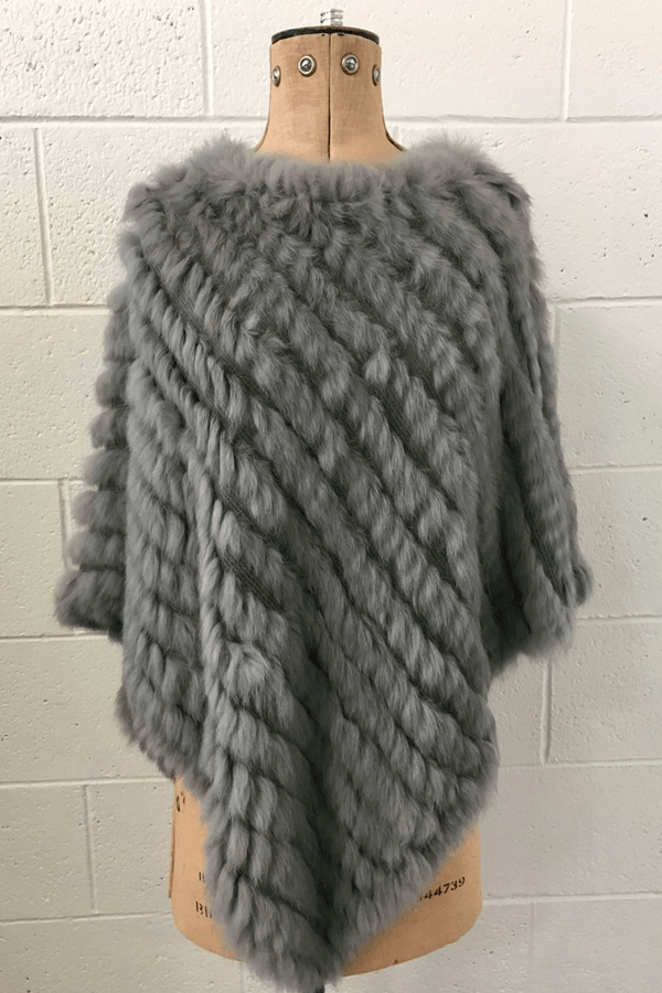 FUR CAPE - GREY MARLE
