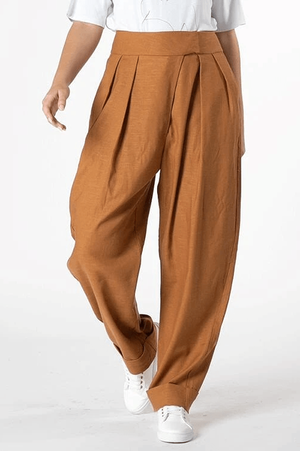 Ida Pleat Pant - Amber - Mustard || Womans Pants