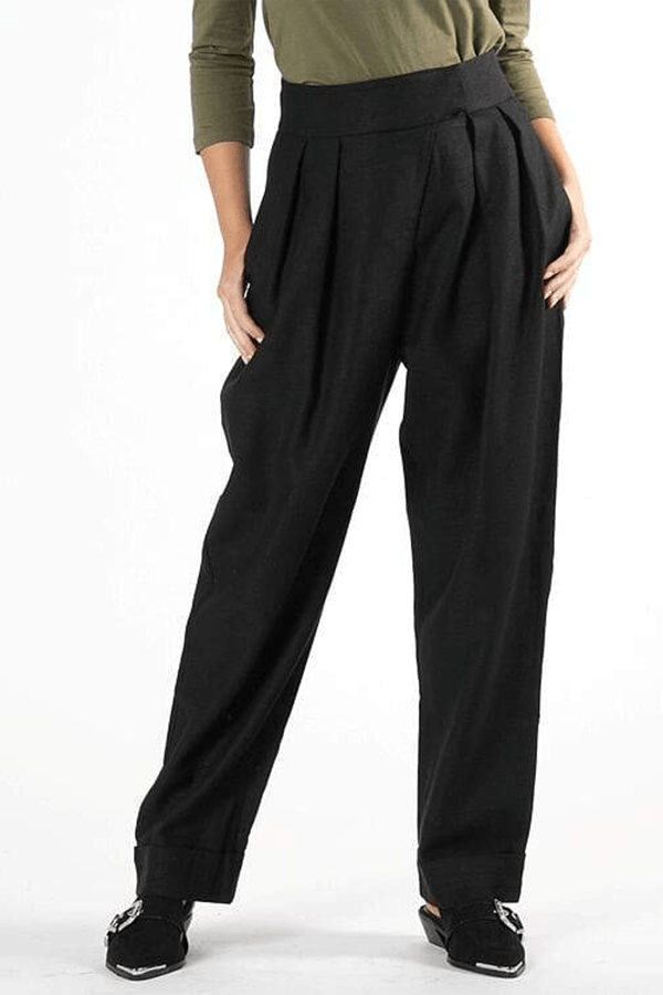 Ida Pleat Pant - Black || Womans Pants