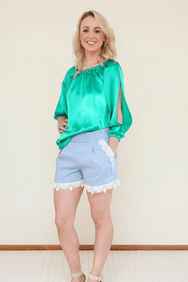 JEAN SHRIMPTON TOP - EMERALD