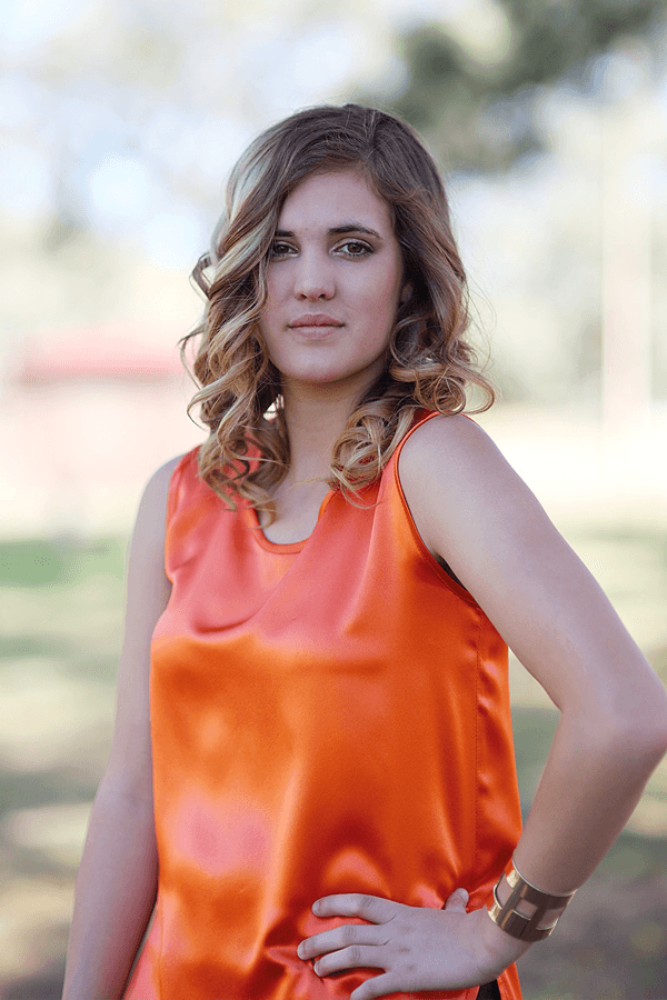 THE KATE TOP - ORANGE