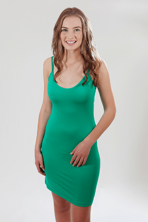 SLIP DRESS - EMERALD