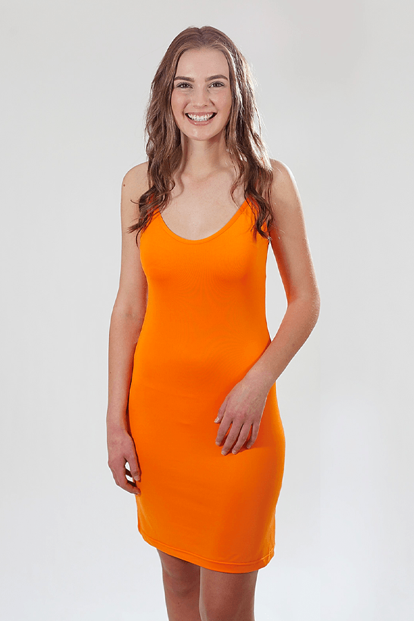 SLIP DRESS - ORANGE