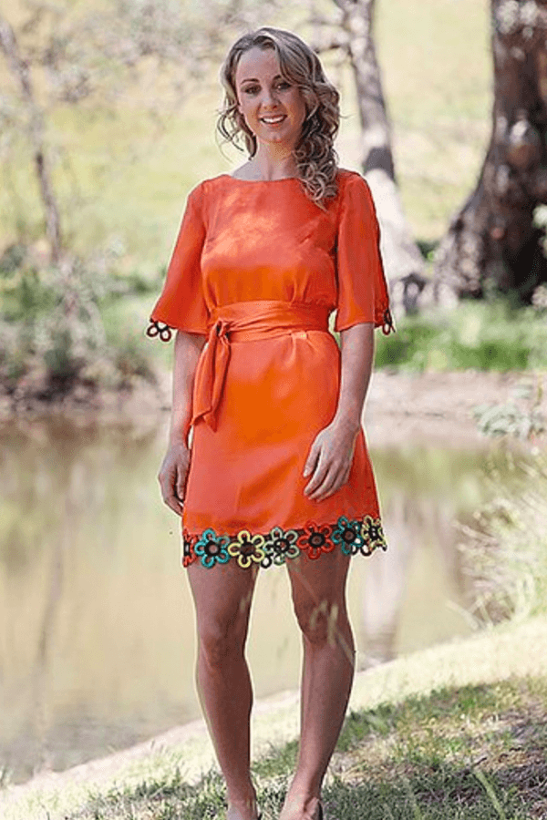 TWIGGY DRESS - ORANGE
