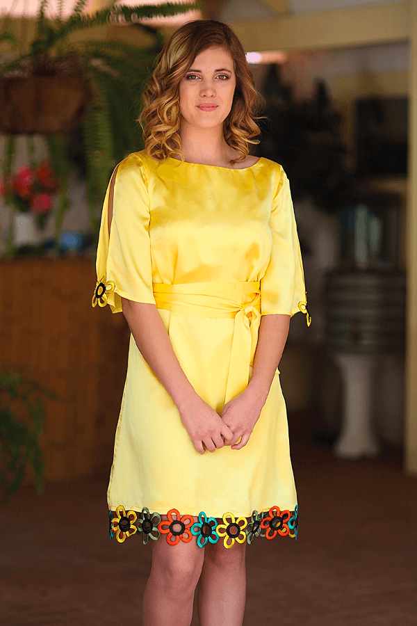 TWIGGY DRESS - YELLOW