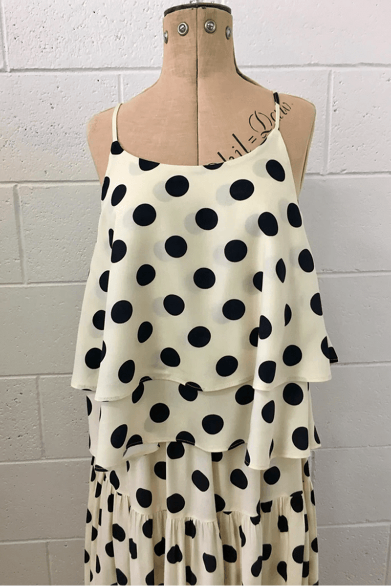 WALLFLOWER TANK - POLKA DOTS