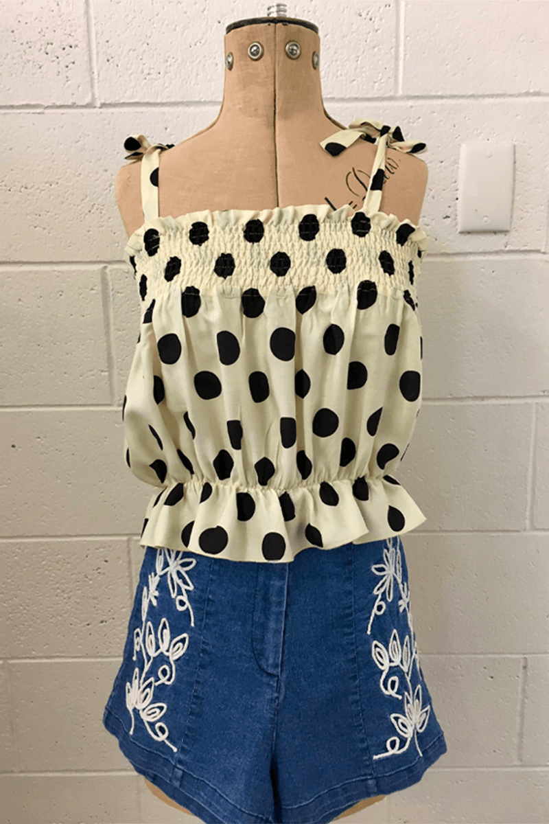 DAISY DUKE TOP - POLKA DOTS