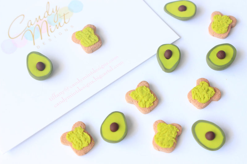 SMASHED AVOCADO EARRINGS