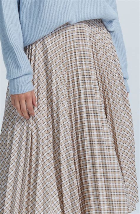 JOSEPHINE PLEATED MIDI SKIRT - Multi