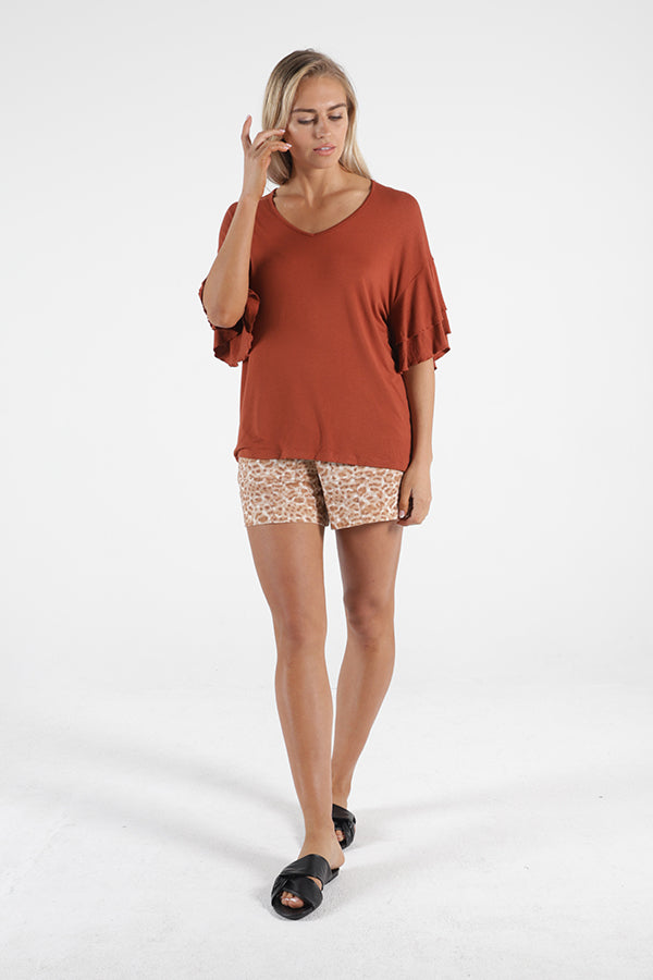 Ripon Top - Terracotta || Betty Basics