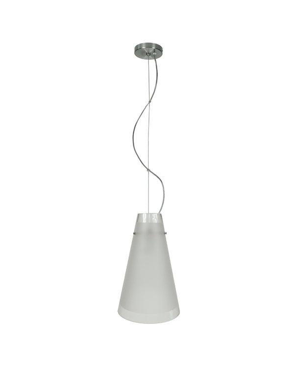 conical glass pendant light