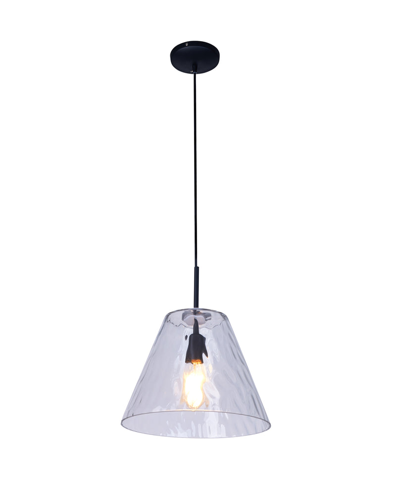 textured glass pendant light