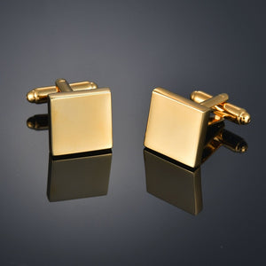 French shirt cufflink for mens Brand designer Cuffs link Button male Gold High Quality Luxury Wedding