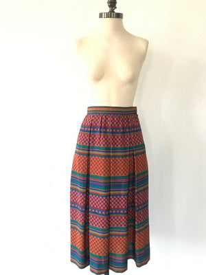 """Lines and Squares"" Skirt"