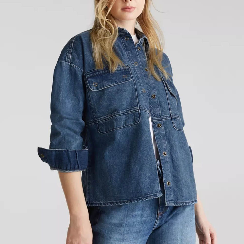 brand ed-c beggy style ladies denim coat