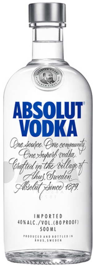 Vodka Absolut Schweden - 0,50 l