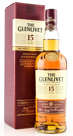 The Glenlivet 15 Jahre Speyside Single Malt - 0,70 l