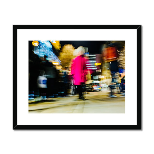 'Street Nights (no.02)' London, 2018 Framed & Mounted Print