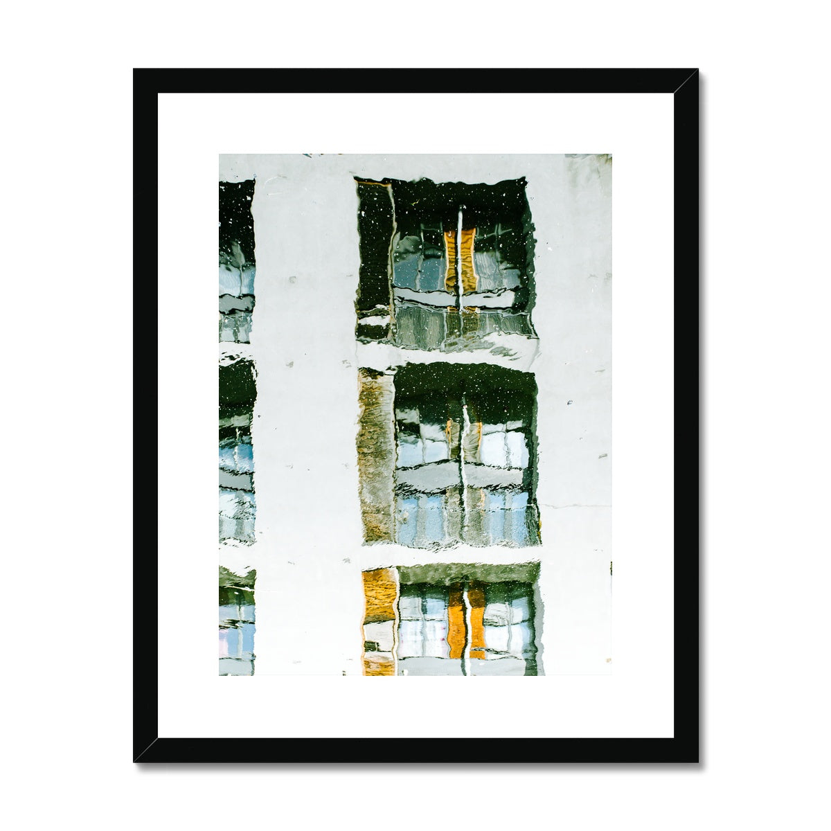 'Distorted Reality (no.03) Portrait' London, 2018 Framed & Mounted Print
