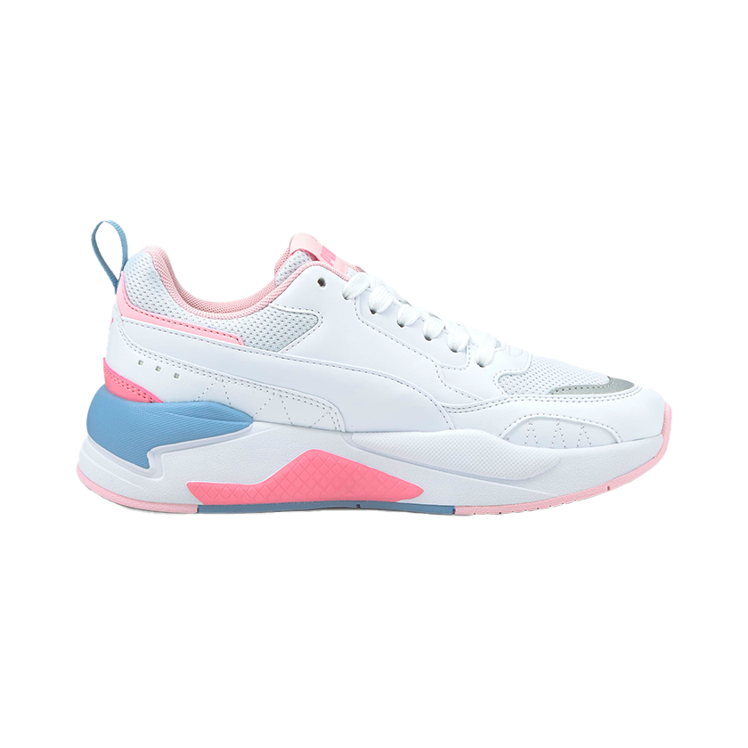 Puma - X-Ray 2 Square Sneakers JR (BLANCO/ROSA/AZUL)
