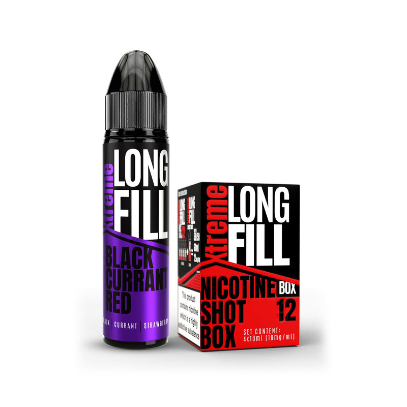 Xtreme Long Fill E-Liquid Black Currant Red 12MG - High Nicotine