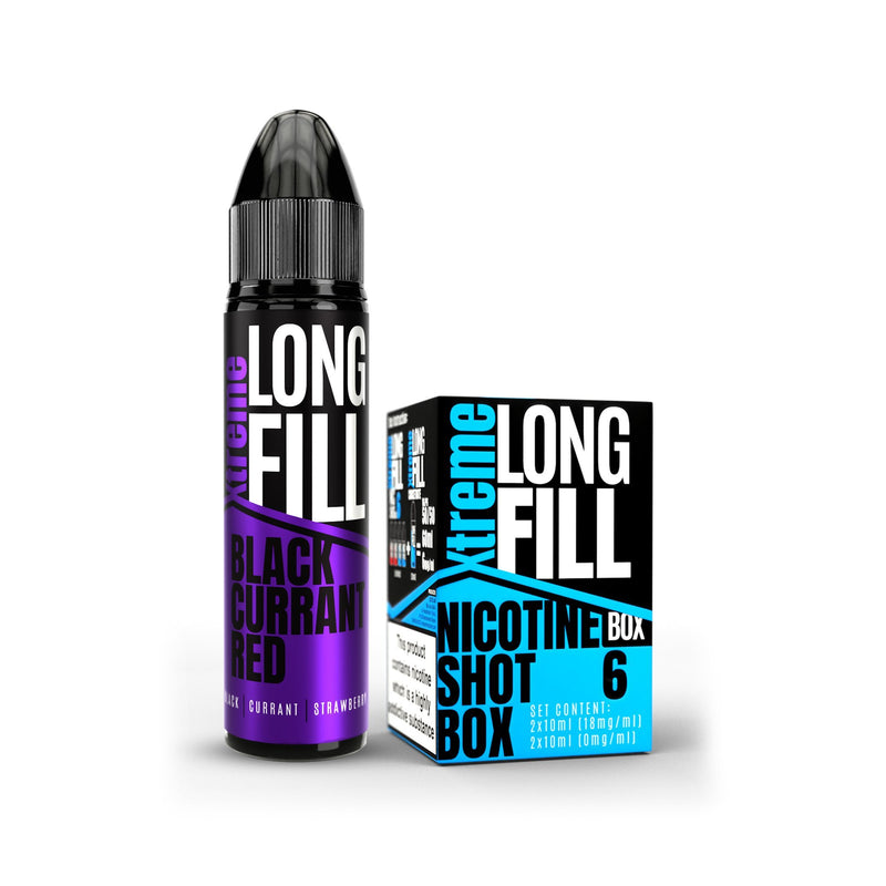 Xtreme Long Fill E-Liquid Black Currant Red 6MG - Low Nicotine