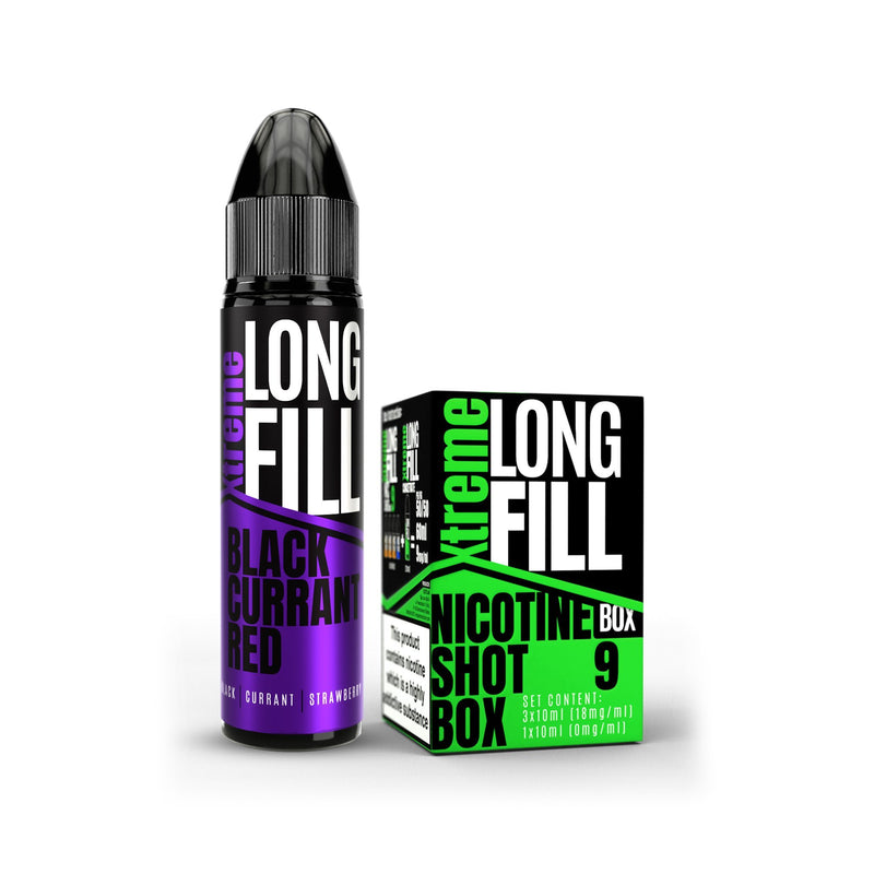Xtreme Long Fill E-Liquid Black Currant Red 9MG - Medium Nicotine