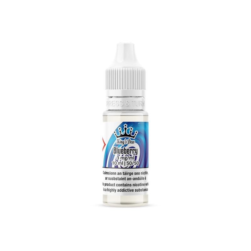 King's Dew E-Liquid Blueberry 3MG - Very Low Nicotine