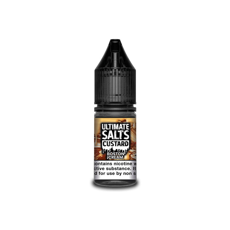 Ultimate Juice Nicotine Salt E-Liquid Boston Cream Custard 10MG - Medium Nicotine