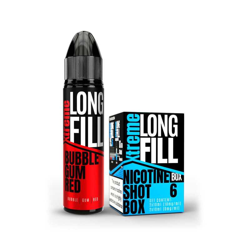 Xtreme Long Fill E-Liquid Bubble Gum Red 6MG - Low Nicotine