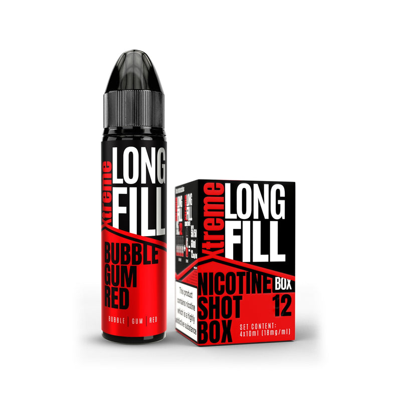 Xtreme Long Fill E-Liquid Bubble Gum Red 12MG - High Nicotine