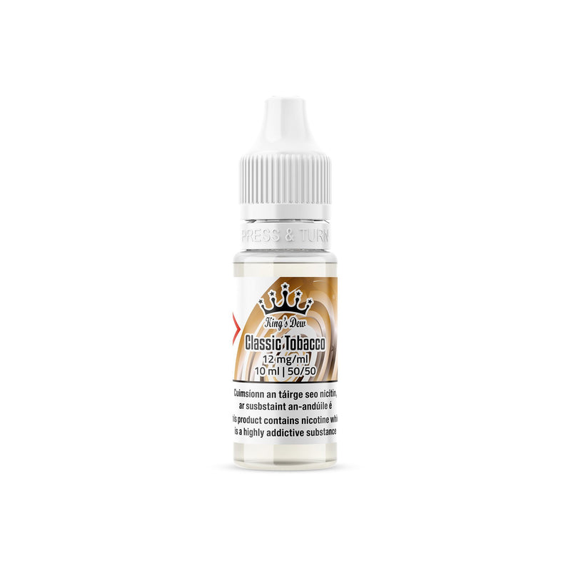 King's Dew E-Liquid Classic Tobacco 12MG - Medium Nicotine