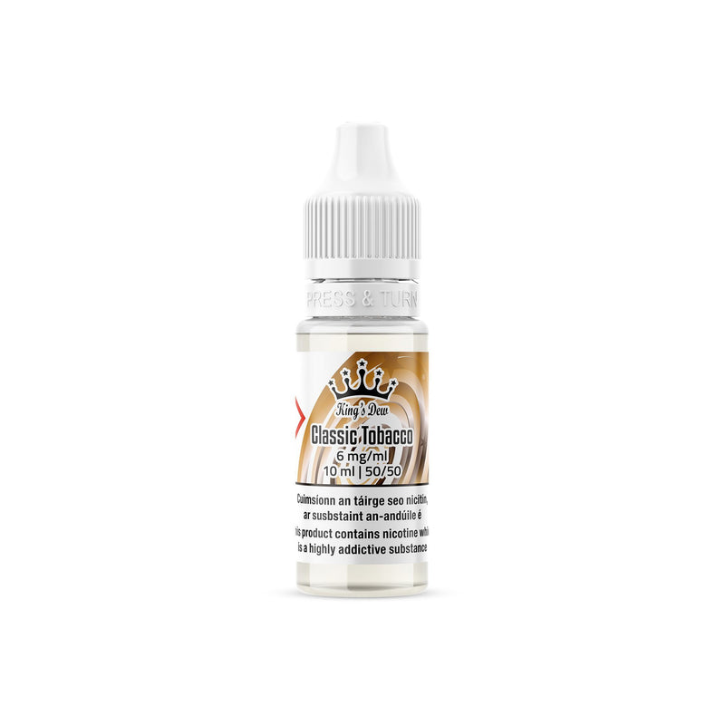 King's Dew E-Liquid Classic Tobacco 6MG - Low Nicotine