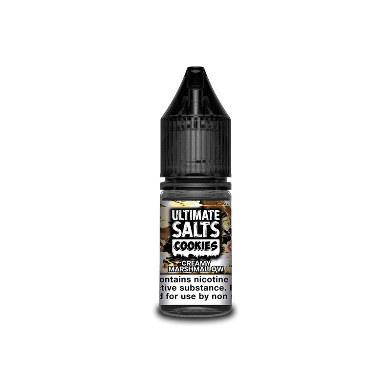 Ultimate Juice Nicotine Salt E-Liquid Creamy Marshmallow Cookies 10MG - Medium Nicotine
