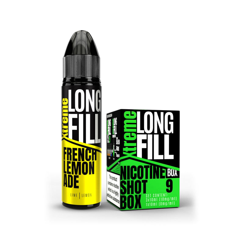 Xtreme Long Fill E-Liquid French Lemonade 9MG - Medium Nicotine