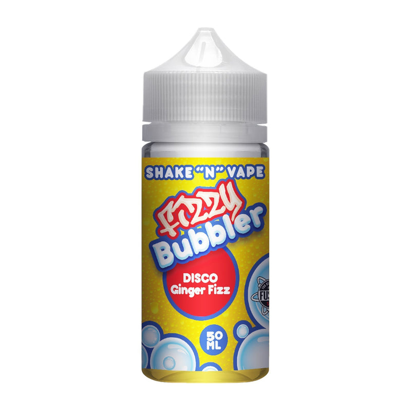 Fizzy Bubbler Short Fill E-Liquid Disco Ginger Fizz