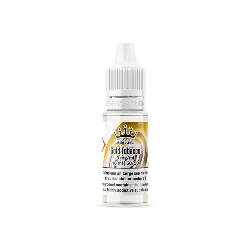 King's Dew E-Liquid Gold Tobacco 3MG - Very Low Nicotine