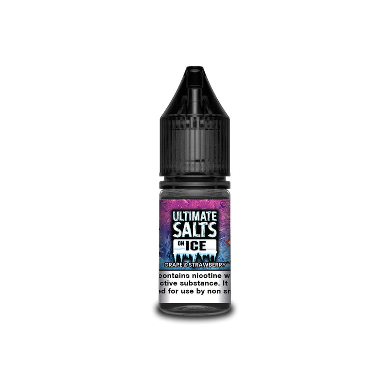 Ultimate Juice Nicotine Salt E-Liquid Grape & Strawberry Ice 10MG - Medium Nicotine