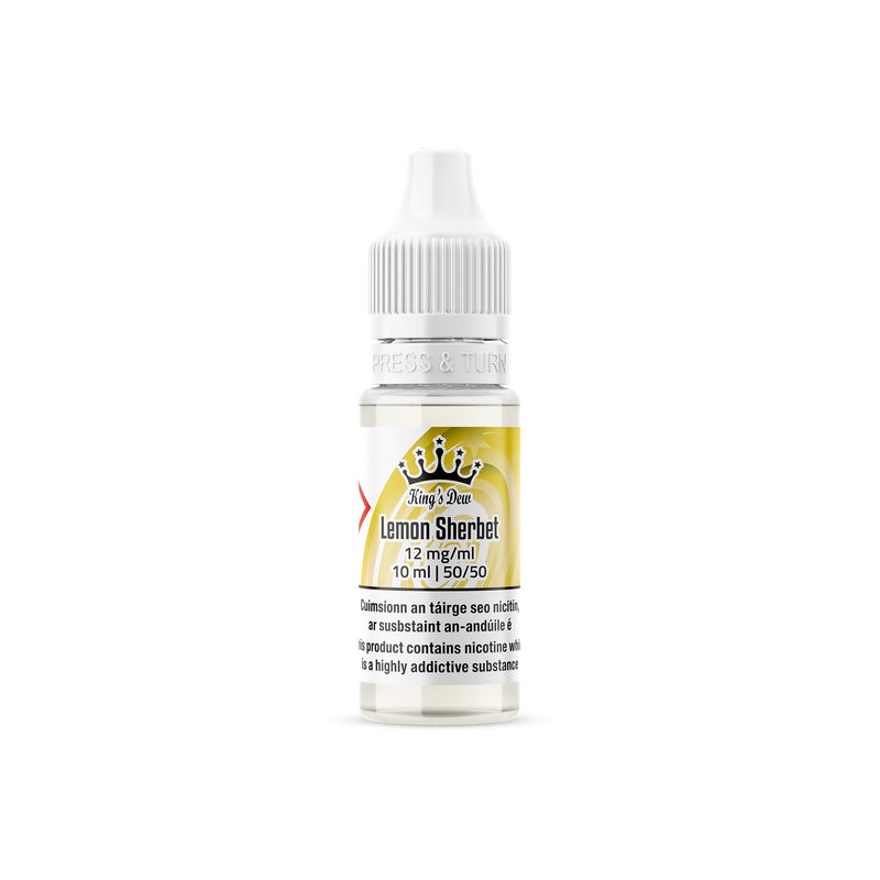 King's Dew E-Liquid Lemon Sherbet 12MG - Medium Nicotine