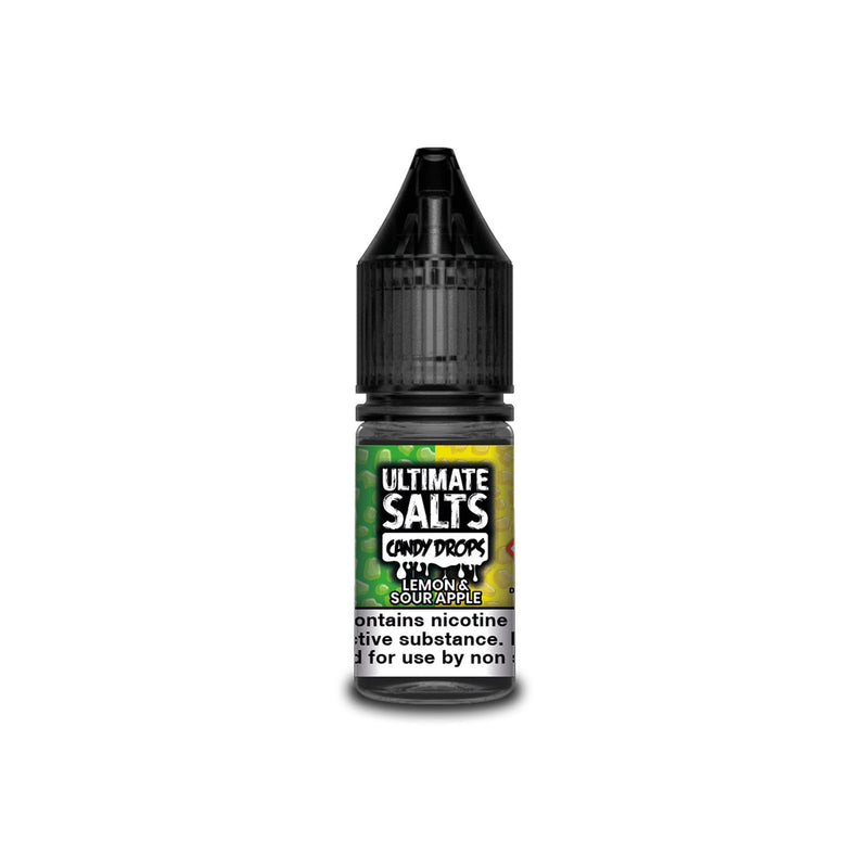 Ultimate Juice Nicotine Salt E-Liquid Lemon & Sour Apple Candy Drops 10MG - Medium Nicotine