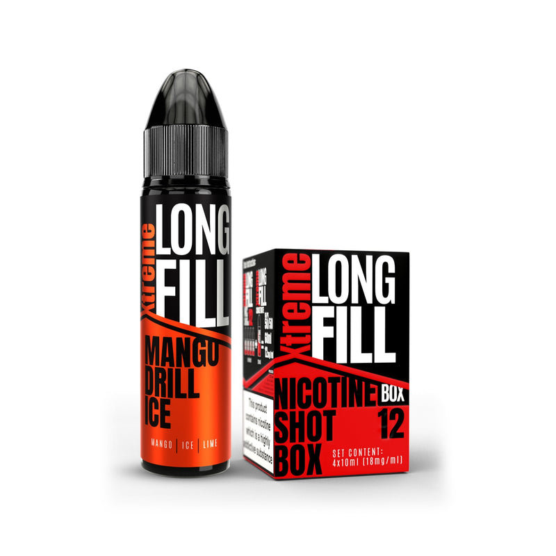 Xtreme Long Fill E-Liquid Mango Drill Ice 12MG - High Nicotine