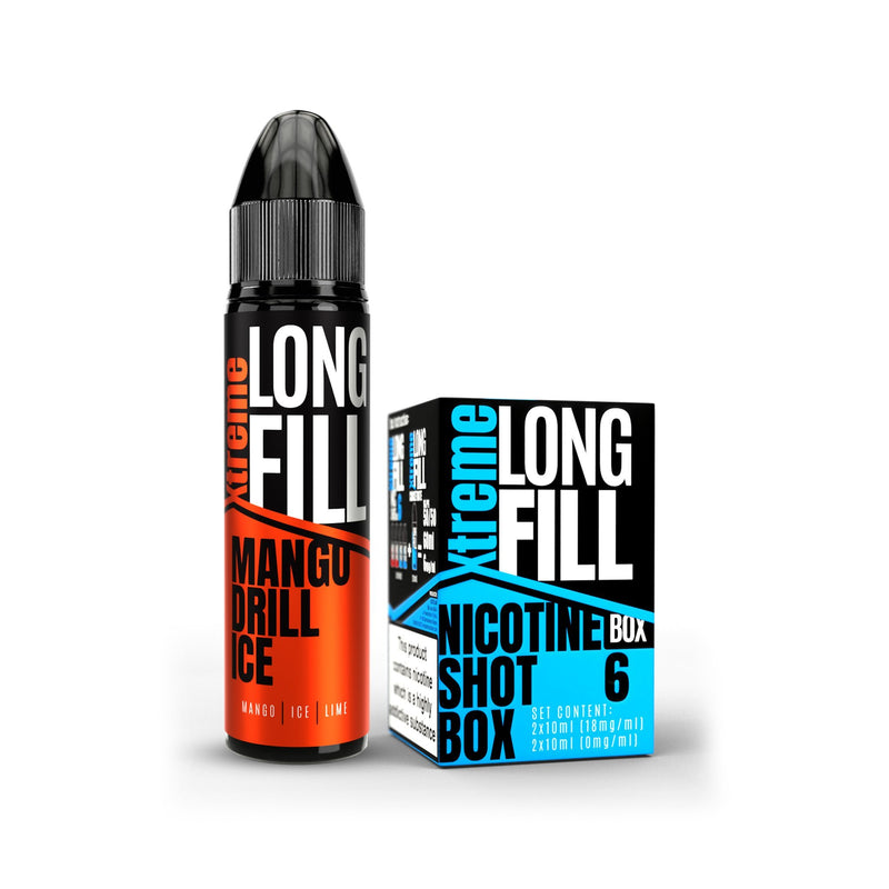 Xtreme Long Fill E-Liquid Mango Drill Ice 6MG - Low Nicotine